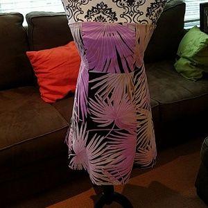 Purple palm sundress
